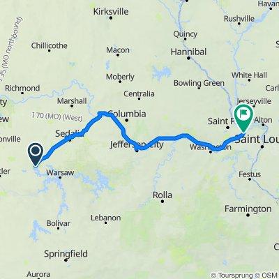 Katy Trail 2020 w/Detours Clinton to St Charles