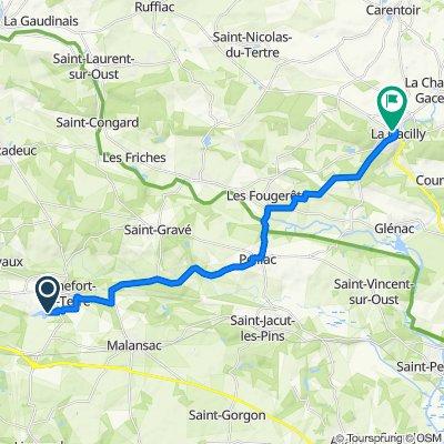 Itinéraire vers Rue de l'Hôtel de Ville, La Gacilly
