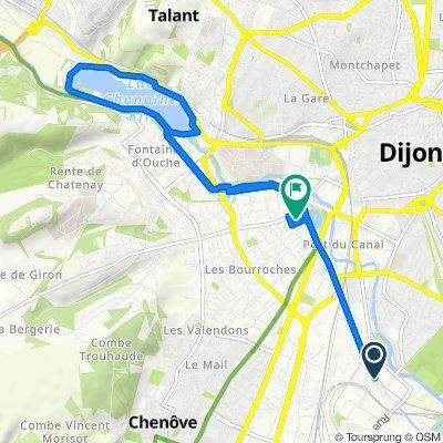 Rue de l'Ingénieur Stephenson, Longvic to 2 Promenade de la Seine, Dijon
