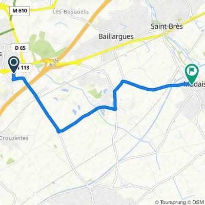 De 37 Centre Commercial Saint-Antoine, Saint-Aunès à 7 Avenue de la Gare, Mudaison
