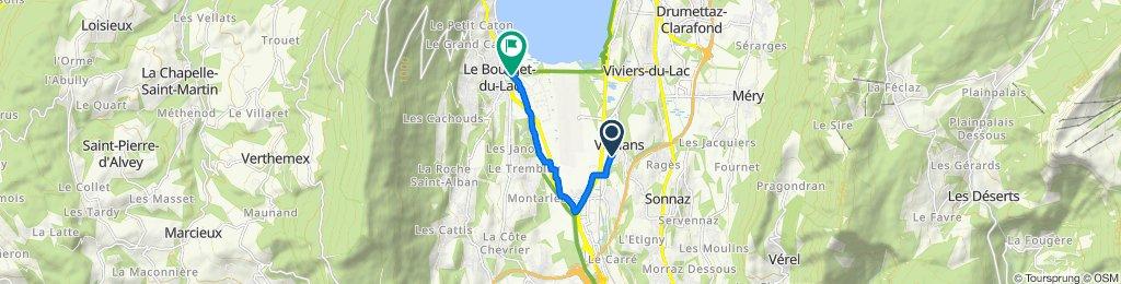 Itinéraire à partir de 238 Rue Centrale, Voglans