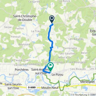 De 142A La Chaux, Saint-Christophe-de-Double à 1029A Chemin du Mange-Vent, Le Pizou