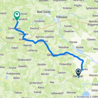 Schloßstraße 37, Dargun nach Barkvierener Weg 6, Gnewitz
