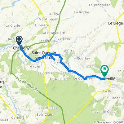 De 2bis Rue du 14 Juillet, Chédigny à 34 Rue Jeanne d'Arc, Genillé