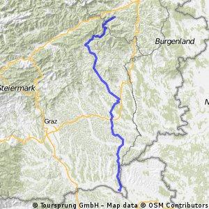 Von Otterthal bei Gloggnitz bis Altneudörfl bei Bad Radkersburg