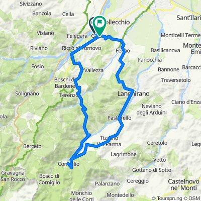Da Via Molinara, Collecchio a Via Nazionale 28, Gaiano