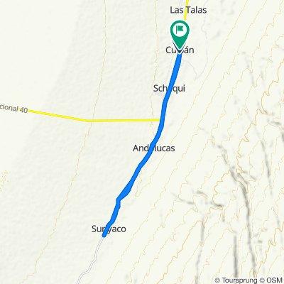 De Ruta Nacional 40, Cuipán a Ruta Nacional 40, Cuipán