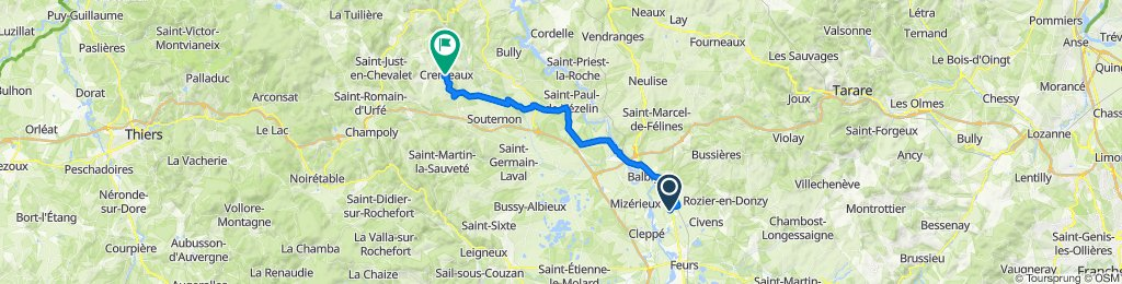 De 199 Chemin de la Loire, Épercieux-Saint-Paul à Rue de l'Aurore, Cremeaux