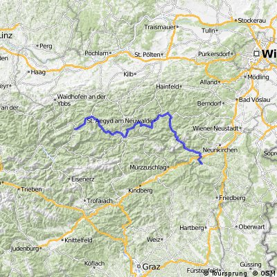 Von Göstling an der Ybbs bis Otterthal bei Gloggnitz
