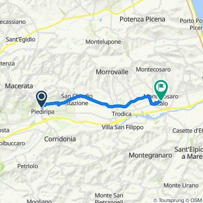 Da Via Donato Bramante 81, Macerata a Via Roma 25, Borgo Stazione