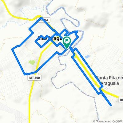 De Rua Santa Rita, 2–98, Alto Araguaia a Rua Santa Rita, 1–99, Alto Araguaia