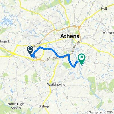 1101 Mill Pond Ct, Watkinsville to 100–198 Snapfinger Way, Athens