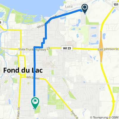 N7104 Leonard Dr, Fond Du Lac to 731–759 S Park Ave, Fond du Lac