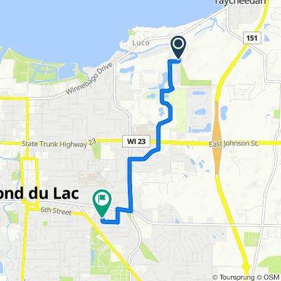 N7104 Leonard Dr, Fond Du Lac to 270 Candy Ln, Fond du Lac