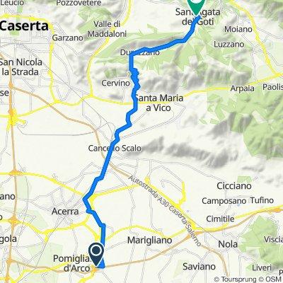 Da Via Gandhi 26, Pomigliano d'Arco a Viale Vittorio Emanuele 23, Sant'Agata Dé Goti