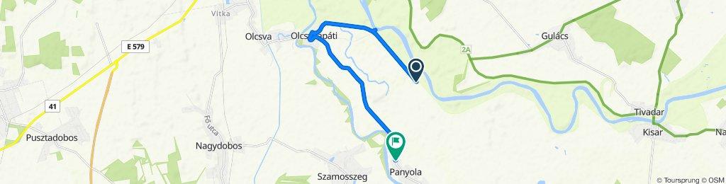 Route to Szombathelyi utca 89., Panyola