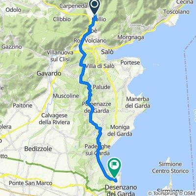 Da Via Rossini 6, Vobarno a Via Belvedere 2, Desenzano del Garda