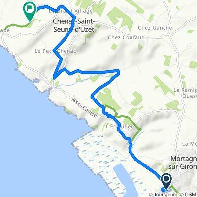 Itinéraire à partir de 2–34 Quai de l'Estuaire, Mortagne-sur-Gironde