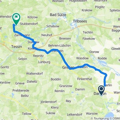 Schloßstraße 74, Dargun nach Barkvieren 10B, Gnewitz