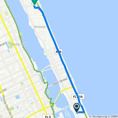 309 Wisteria Rd, Daytona Beach to 2641 N Atlantic Ave, Daytona Beach