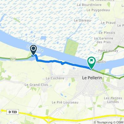 La Martinière, Le Pellerin naar Place du Commandant L'Herminier, Le Pellerin