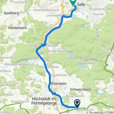 WUN12, Thiersheim nach Professor-Fritz-Klee-Straße 69, Selb