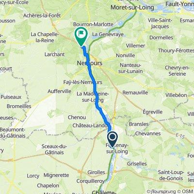 De Route du Frenoy, Nargis à Route de Nemours, Grez-sur-Loing