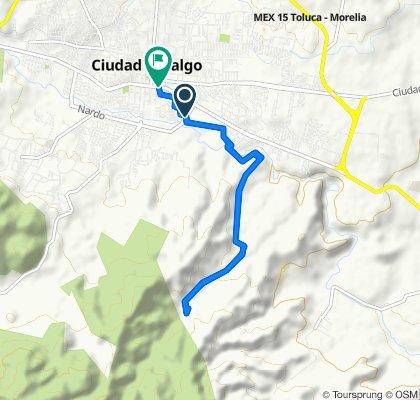 De Arco Sur de Ciudad Hidalgo, Hidalgo a Avenida José María Morelos 17–27, Ciudad Hidalgo