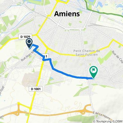De 5 Rue Georges Samuel Perrottet, Amiens à 51 Rue Jean-Marc Laurent, Amiens