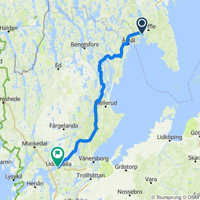 Route nach Asplundsgatan, Uddevalla