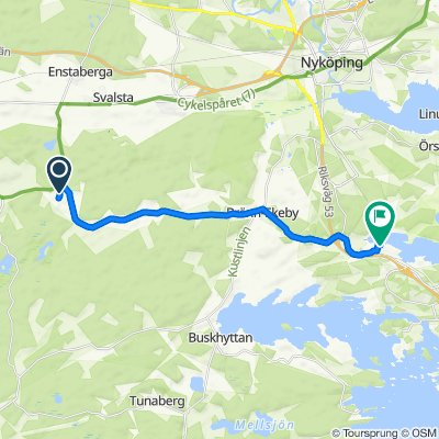 Tuna Nygård 1, Nyköping do Tegelbruksvägen 4A, Oxelösund