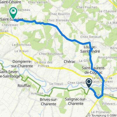 De Rue du Port du Lys, Salignac-sur-Charente à 2–16 Rue de l'Étang, Saint-Sauvant