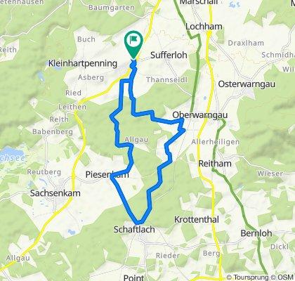Schaftlach über Tannried am Bahngleis