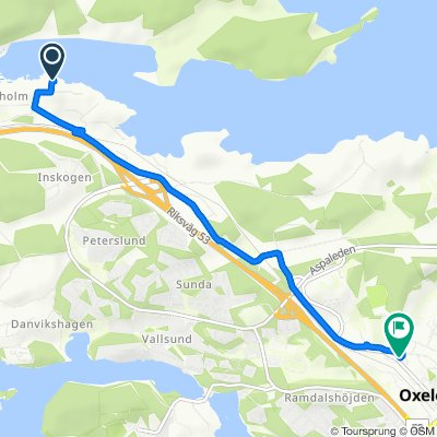 Tegelbruksvägen 7, Oxelösund do Båggränd, Oxelösund