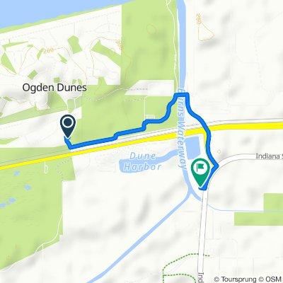 115 Hillcrest Rd, Ogden Dunes to 1250 Crisman Rd, Portage