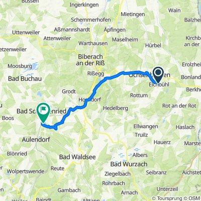 Roter Straße 103, Erlenmoos nach Schwaigfurt 3, Bad Schussenried