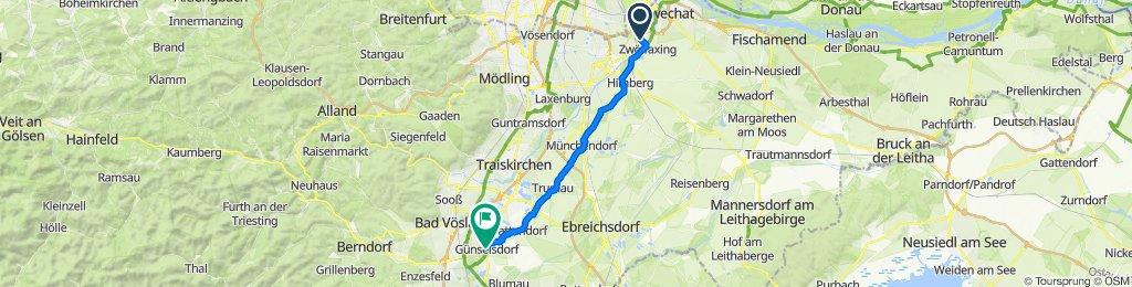 Zwölfaxinger Straße 1, Schwechat nach Anton-Rauch-Straße, Günselsdorf