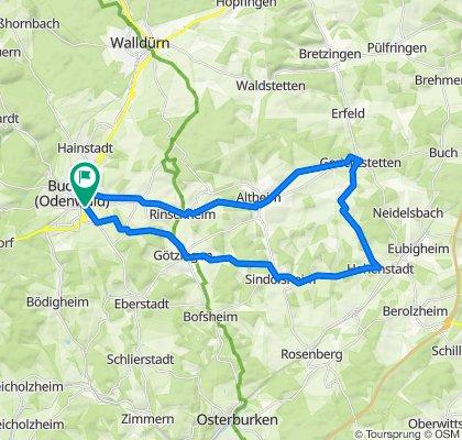 Buchen - Hohenstadt - Gerichtstetten - Buchen
