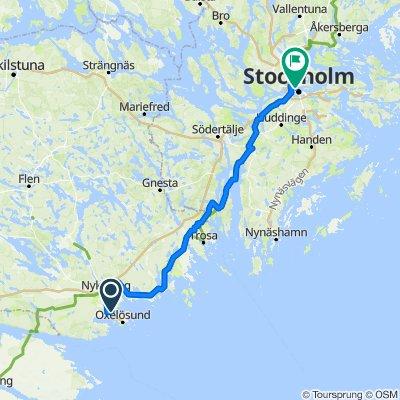 Tegelbruksvägen 6A, Oxelösund do Hantverkargatan 2B, Sztokholm