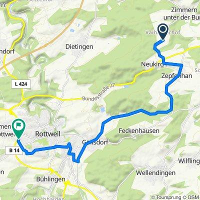 Vaihinger Hof, Rottweil nach Im Geigenrain 15, Rottweil