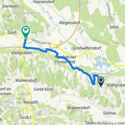 Maierhofbergen 42 nach Ilz Ortsmitte