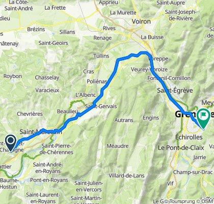 De Route du Furand 1985, Saint-Bonnet-de-Chavagne à Avenue Hippolyte Lhenry 16, Poisat