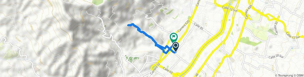 De Carrera 50 72A-100–72A-2, Medellín a Calle 74 52-100–52-2, Medellín