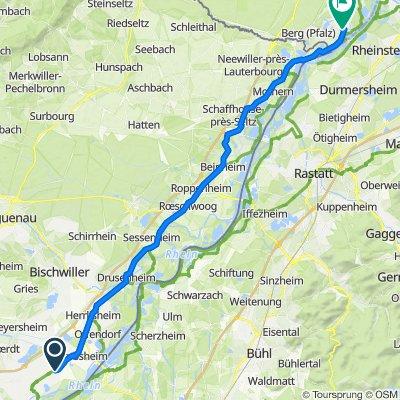 6 Route Nationale, Kilstett nach Hauptstraße 13, Neuburg am Rhein