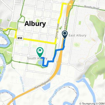 385 Centenary Street, East Albury to 481 Ebden Street, South Albury