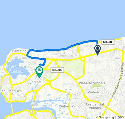 De Rua Imperatriz, 60, São Luís a Avenida Jornalista Ribamar Bogea, São Luís