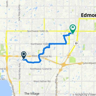 2609 Featherstone Rd, Oklahoma City to 320 W 18th St, Edmond