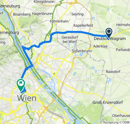 Rohrergasse 1, Deutsch-Wagram nach Wasagasse 19, Wien
