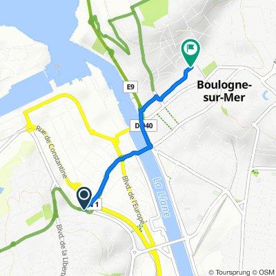 De Boulevard Jean Jaurès, Boulogne-sur-Mer à 23 Boulevard de Clocheville, Boulogne-sur-Mer