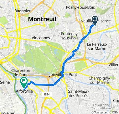 De 50 Rue Faidherbe, Neuilly-Plaisance à 138 Rue Édouard Vaillant, Alfortville